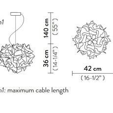 Veli couture m adriano rachele suspension pendant light  slamp vel78sos0001bw000  design signed nedgis 66204 thumb