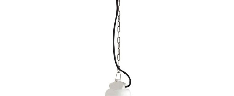 Suspension verre porcelaine blanc ip54 o10 5cm h14cm zangra normal