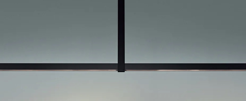Suspension vertigo 150 noir led 2700k 2800lm l150cm h60cm anastassiades normal