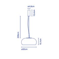 Vetra joan gaspar suspension pendant light  marset a689 002  design signed 53185 thumb