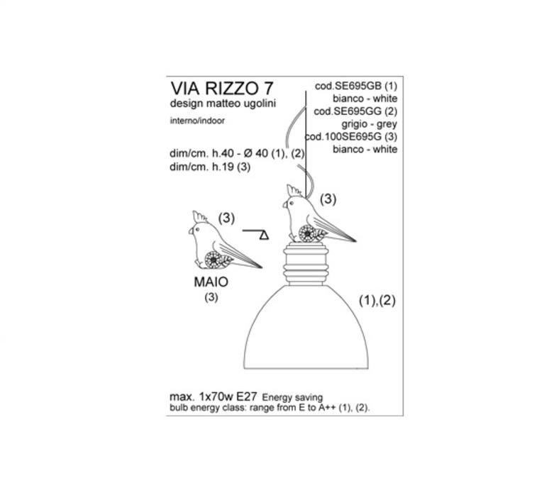Via rizzo 7 matteo ugolini karman se695gg luminaire lighting design signed 20227 product