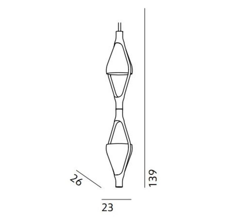 Viceversa 2 noe duchaufour lawrance suspension pendant light  kundalini k370281ga  design signed nedgis 90939 product
