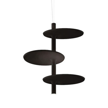 Suspension victoria xl noir led o70cm h80cm kundalini normal