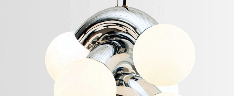 Suspension vine 5 pendant chrome led 3000k lm o42cm h57cm andlight normal