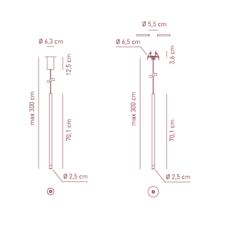 Virtus mono canopy manuel vivian suspension pendant light  axo light e2101113  design signed 41586 thumb