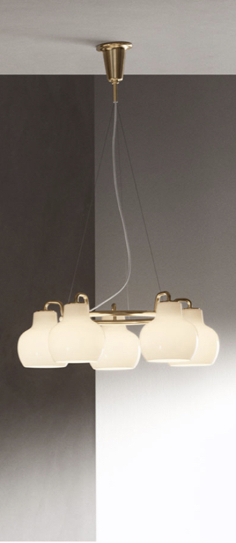 Suspension vl ring crown blanc l69cm h23 3cm louis poulsen normal