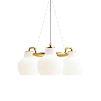 Suspension vl ring crown blanc o55cm h23 3cm louis poulsen normal