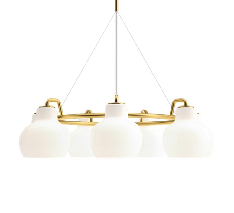 Vl ring crown vilhelm lauritzen  suspension pendant light  louis poulsen vl ring crown 7 7x40w e27   design signed nedgis 72346 product