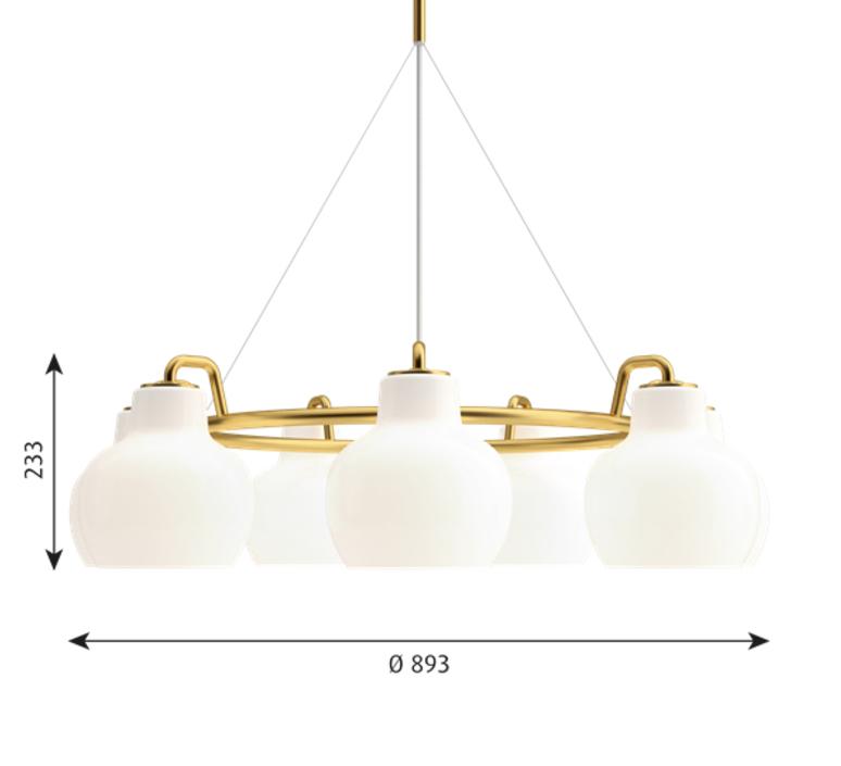 Vl ring crown vilhelm lauritzen  suspension pendant light  louis poulsen vl ring crown 7 7x40w e27   design signed nedgis 72347 product