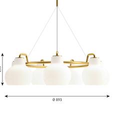 Vl ring crown vilhelm lauritzen  suspension pendant light  louis poulsen vl ring crown 7 7x40w e27   design signed nedgis 72347 thumb