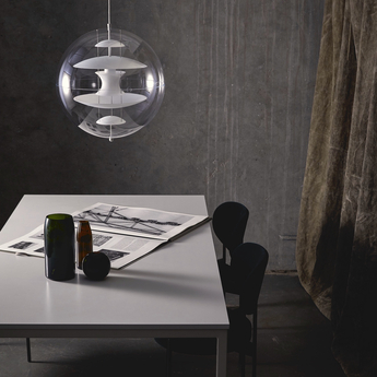 Suspension vp globe large blanc o50cm h50cm verpan normal