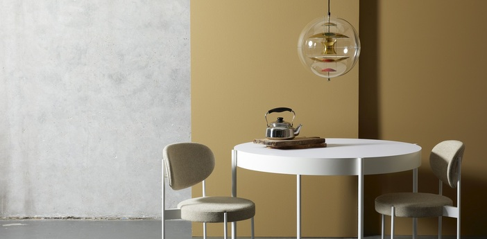 Suspension vp globe small aluminium orange bleu o40cm h40cm verpan normal