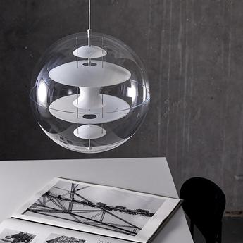 Suspension vp globe small blanc o40cm h40cm verpan normal