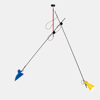 Suspension vv cinquanta bleu et jaune mondrian l190cm h180cm astep normal