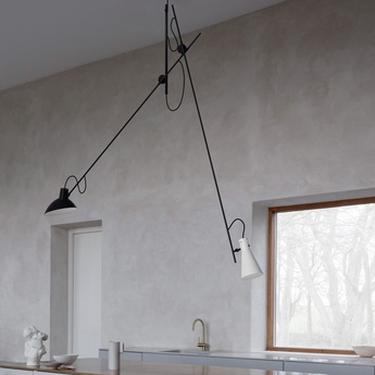 Suspension vv cinquanta noir et blanc l190cm h180cm astep normal