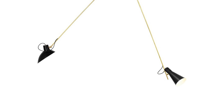 Suspension vv cinquanta noir et laiton l190cm h180cm astep normal