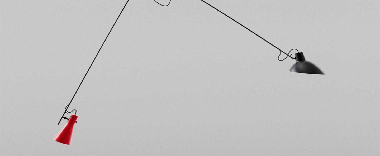 Suspension vv cinquanta noir et rouge l190cm h180cm astep normal