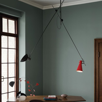 Suspension vv cinquanta noir et rouge l190cm h180cm astep normal