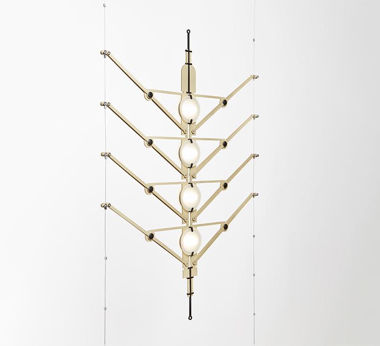Vvv vantot suspension pendant light  dcw  6 vvv module gold  1 canopy start  1 canopy a   1 canopy b   design signed nedgis 104319 product