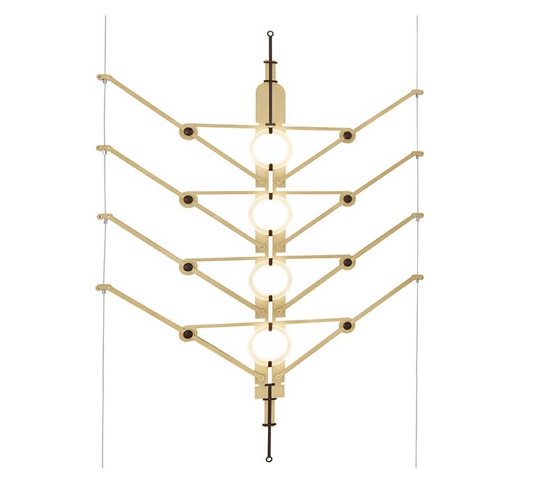 Vvv vantot suspension pendant light  dcw  6 vvv module gold  1 canopy start  1 canopy a   1 canopy b   design signed nedgis 104320 product
