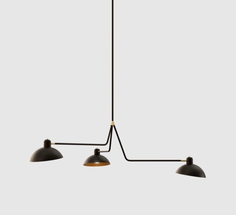 Waldorf triple studio lambert fils suspension pendant light  lambert fils wal07bkbrf  design signed nedgis 112661 product
