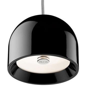 Suspension wan noir brillant o11 5cm h8 9cm flos normal