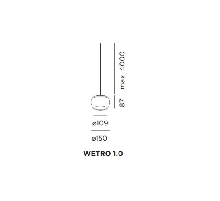 Wetro 1 0 studio wever ducre suspension pendant light  wever et ducre wetro1marron  design signed 32488 product