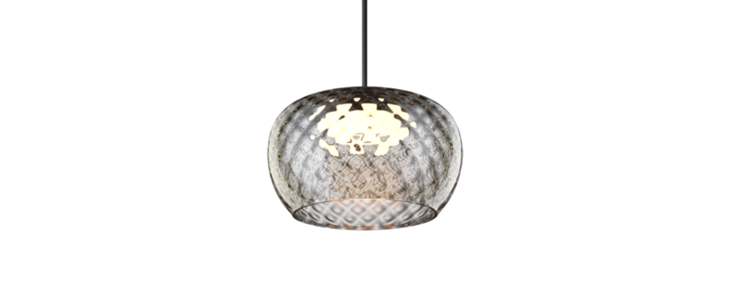 Suspension wetro 1 0 taupe diamond verre fume led 1800 2850k 340lm o15cm h8 7cm wever ducre normal