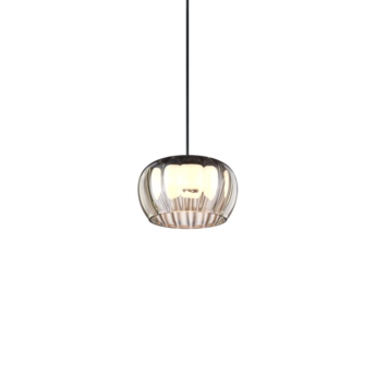 Suspension wetro 1 0 taupe strieped verre fume led 1800 2850k 340lm o15cm h8 7cm wever ducre normal