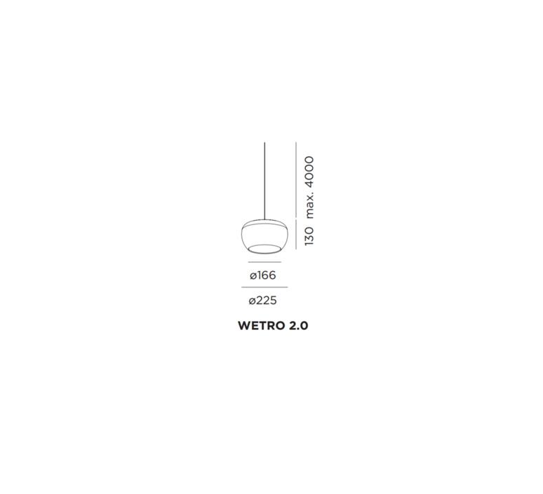 Wetro 2 studio wever ducre suspension pendant light  wever et ducre wetro2noir  design signed 32491 product
