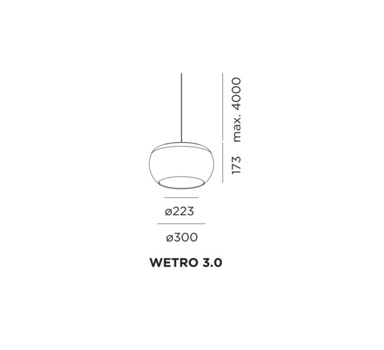 Wetro 3 studio wever ducre suspension pendant light  wever et ducre wetro3marron  design signed 32501 product