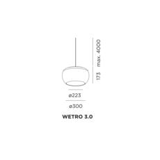 Wetro 3 studio wever ducre suspension pendant light  wever et ducre wetro3marron  design signed 32501 thumb