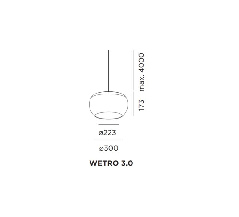 Wetro 3 studio wever ducre suspension pendant light  wever et ducre wetro3noir  design signed 32498 product