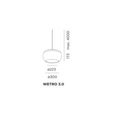 Wetro 3 studio wever ducre suspension pendant light  wever et ducre wetro3noir  design signed 32498 thumb