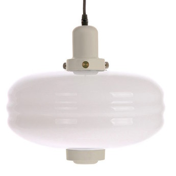 Suspension white glass pendant lamp l warm grey blanc o38cm h35cm hk living normal