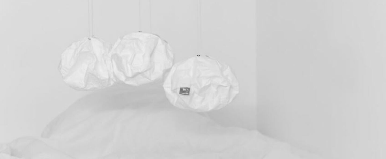 Suspension white lighting ball blanc o23cm h15cm ekaterina galera normal