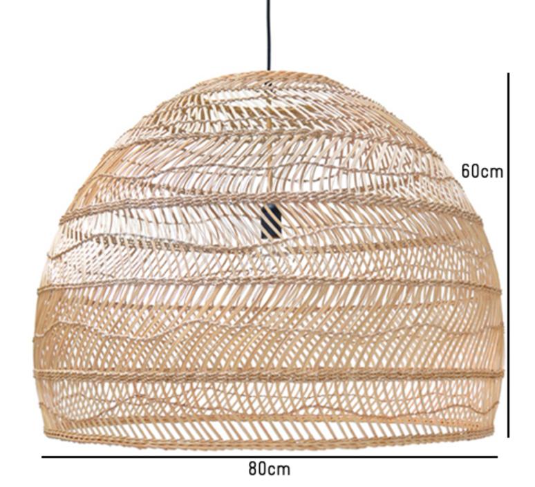Wicker ball large studio hk living suspension pendant light  hk living vaa1095   design signed 39081 product