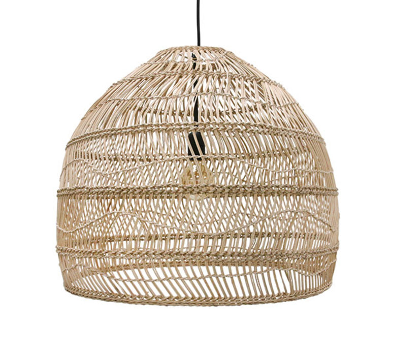 Wicker ball medium studio hk living suspension pendant light  hk living vol5015   design signed 39071 product