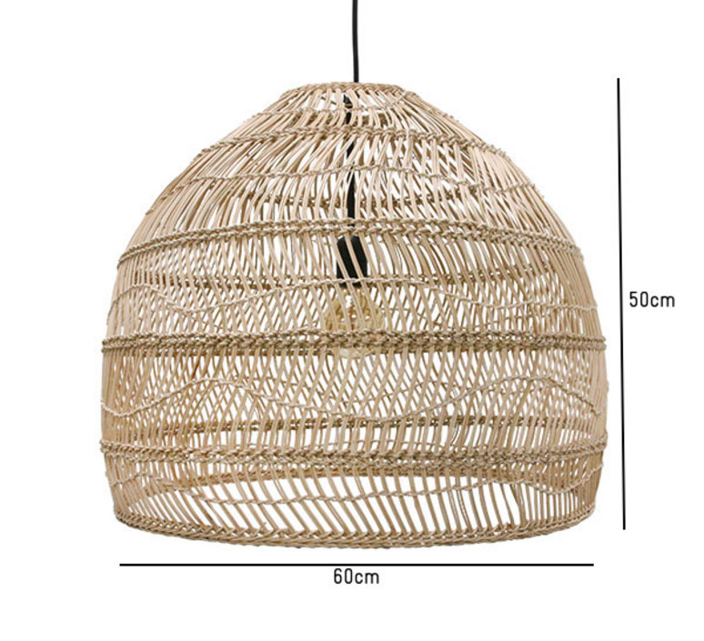 Wicker ball medium studio hk living suspension pendant light  hk living vol5015   design signed 39072 product