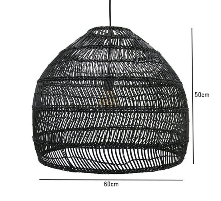 Wicker ball medium studio hk living suspension pendant light  hk living vol5016   design signed 39076 product