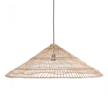 Suspension wicker triangle naturel o80cm h26cm hk living normal
