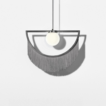 Suspension wink gris led l60cm h48cm houtique normal