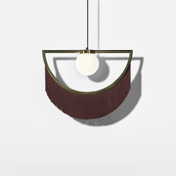 Suspension wink laiton bordeaux led l60cm h48cm houtique normal