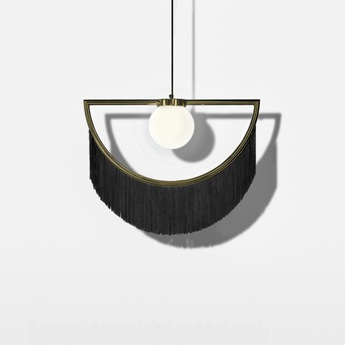 Suspension wink laiton noir led l60cm h48cm houtique normal
