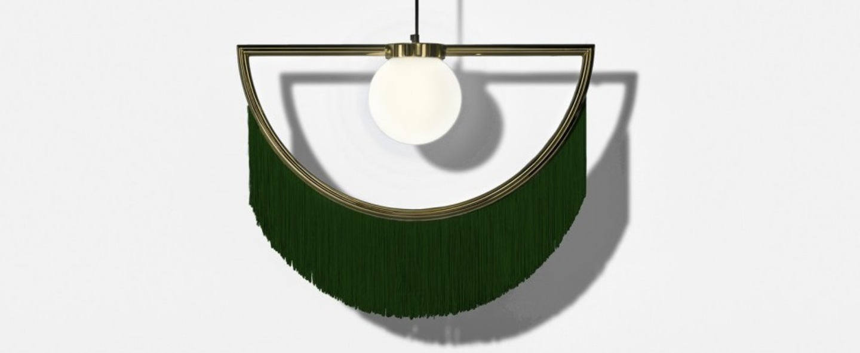 Suspension wink laiton vert led l60cm h48cm houtique normal