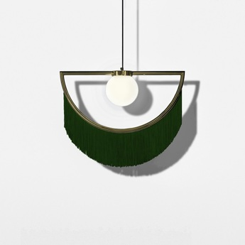 Suspension wink laiton vert led l60cm h48cm houtique normal