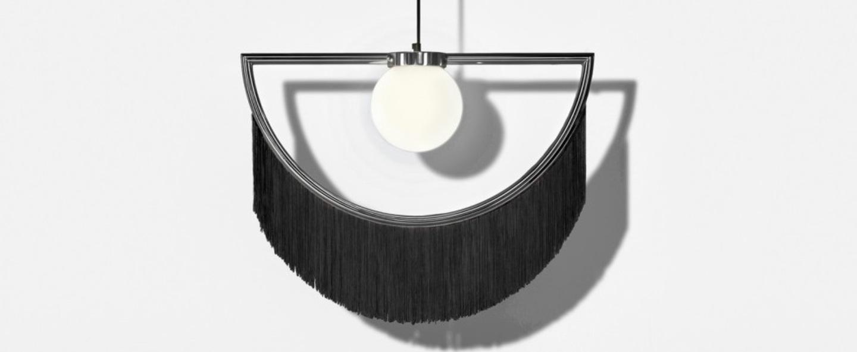 Suspension wink noir gris led l60cm h48cm houtique normal