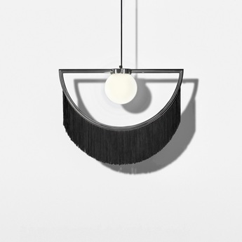 Suspension wink noir gris led l60cm h48cm houtique normal