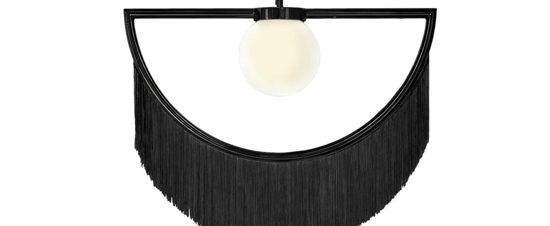Suspension wink noir led l60cm h48cm houtique normal