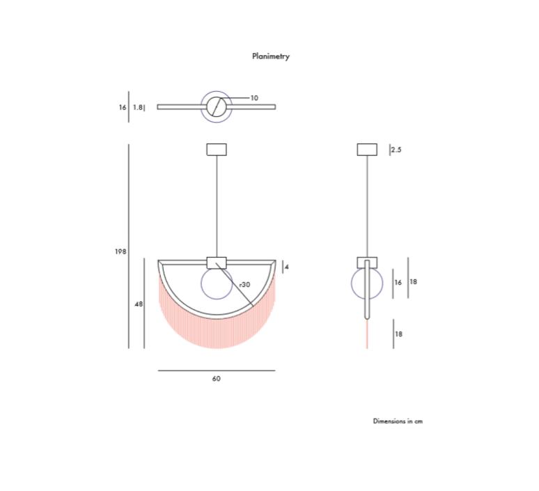 Wink masquespacio suspension pendant light  houtique 2125634  design signed 49375 product